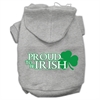Mirage Pet Products Proud to be Irish Screen Print Pet Hoodies Grey Size XXXL (20)