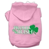 Mirage Pet Products Proud to be Irish Screen Print Pet Hoodies Light Pink Size Med (12)