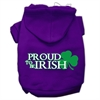 Mirage Pet Products Proud to be Irish Screen Print Pet Hoodies Purple Size Sm (10)
