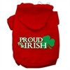 Mirage Pet Products Proud to be Irish Screen Print Pet Hoodies Red Size Sm (10)