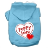 Mirage Pet Products Puppy Love Screen Print Pet Hoodies Baby Blue Size Sm (10)