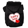Mirage Pet Products Puppy Love Screen Print Pet Hoodies Black Size XL (16)