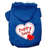 Mirage Pet Products Puppy Love Screen Print Pet Hoodies Blue Size XL (16)