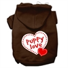 Mirage Pet Products Puppy Love Screen Print Pet Hoodies Brown Size XL (16)