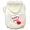 Mirage Pet Products Puppy Love Screen Print Pet Hoodies Cream Size XS (8)