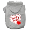 Mirage Pet Products Puppy Love Screen Print Pet Hoodies Grey Size XL (16)