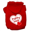 Mirage Pet Products Puppy Love Screen Print Pet Hoodies Red Size XS (8)
