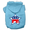 Mirage Pet Products Republican Screen Print Pet Hoodies Baby Blue Size Sm (10)