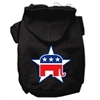 Mirage Pet Products Republican Screen Print Pet Hoodies Black Size Lg (14)