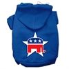 Mirage Pet Products Republican Screen Print Pet Hoodies Blue Size Sm (10)