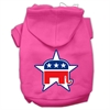 Mirage Pet Products Republican Screen Print Pet Hoodies Bright Pink Size Sm (10)