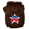 Mirage Pet Products Republican Screen Print Pet Hoodies Brown Size Sm (10)