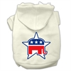Mirage Pet Products Republican Screen Print Pet Hoodies Cream Size Sm (10)
