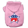 Mirage Pet Products Republican Screen Print Pet Hoodies Light Pink Size Sm (10)