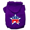 Mirage Pet Products Republican Screen Print Pet Hoodies Purple Size Med (12)