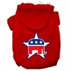 Mirage Pet Products Republican Screen Print Pet Hoodies Red Size Sm (10)