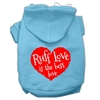 Mirage Pet Products Ruff Love Screen Print Pet Hoodies Baby Blue Size XS (8)