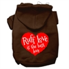 Mirage Pet Products Ruff Love Screen Print Pet Hoodies Brown Size XS (8)