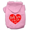 Mirage Pet Products Ruff Love Screen Print Pet Hoodies Light Pink Size Med (12)