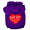 Mirage Pet Products Ruff Love Screen Print Pet Hoodies Purple Size Med (12)