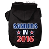 Mirage Pet Products Sanders in 2016 Election Screenprint Pet Hoodies Black Size XL (16)