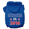 Mirage Pet Products Sanders in 2016 Election Screenprint Pet Hoodies Blue Size S (10)