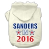 Mirage Pet Products Sanders in 2016 Election Screenprint Pet Hoodies Cream Size XXXL(20)