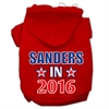 Mirage Pet Products Sanders in 2016 Election Screenprint Pet Hoodies Red Size XS (8)