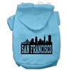 Mirage Pet Products San Francisco Skyline Screen Print Pet Hoodies Baby Blue Size XS (8)