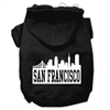 Mirage Pet Products San Francisco Skyline Screen Print Pet Hoodies Black Size XS (8)
