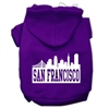 Mirage Pet Products San Francisco Skyline Screen Print Pet Hoodies Purple Size Sm (10)