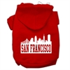 Mirage Pet Products San Francisco Skyline Screen Print Pet Hoodies Red Size Sm (10)