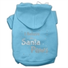 Mirage Pet Products Screenprint Santa Paws Pet Hoodies Baby Blue Size Sm (10)