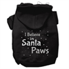 Mirage Pet Products Screenprint Santa Paws Pet Hoodies Black Size XS (8)