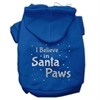Mirage Pet Products Screenprint Santa Paws Pet Hoodies Blue Size XS (8)