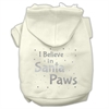 Mirage Pet Products Screenprint Santa Paws Pet Hoodies Cream Size Med (12)