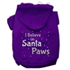 Mirage Pet Products Screenprint Santa Paws Pet Hoodies Purple Size XS (8)