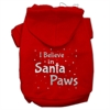 Mirage Pet Products Screenprint Santa Paws Pet Hoodies Red Size Sm (10)