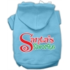 Mirage Pet Products Santas Favorite Screen Print Pet Hoodie Baby Blue XXL (18)
