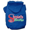 Mirage Pet Products Santas Favorite Screen Print Pet Hoodie Blue XS (8)