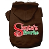 Mirage Pet Products Santas Favorite Screen Print Pet Hoodie Brown XL (16)