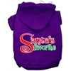 Mirage Pet Products Santas Favorite Screen Print Pet Hoodie Purple XL (16)