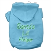 Mirage Pet Products Santa's Lil' Helper Screen Print Pet Hoodies Baby Blue Size Med (12)