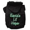 Mirage Pet Products Santa's Lil' Helper Screen Print Pet Hoodies Black Size XS (8)