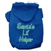Mirage Pet Products Santa's Lil' Helper Screen Print Pet Hoodies Blue Size Sm (10)