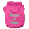 Mirage Pet Products Santa's Lil' Helper Screen Print Pet Hoodies Bright Pink Size XXXL (20)