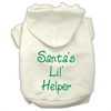 Mirage Pet Products Santa's Lil' Helper Screen Print Pet Hoodies Cream Size Med (12)