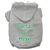 Mirage Pet Products Santa's Lil' Helper Screen Print Pet Hoodies Grey Size XL (16)