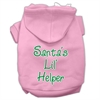 Mirage Pet Products Santa's Lil' Helper Screen Print Pet Hoodies Light Pink Size Med (12)