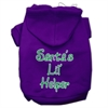 Mirage Pet Products Santa's Lil' Helper Screen Print Pet Hoodies Purple Size Med (12)